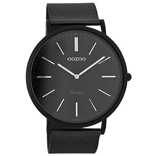 Oozoo Herren Digital Quarz Uhr mit Edelstahl Armband C7383