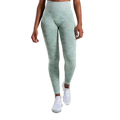 YOJINKE Leggins Sportivi da Donna Vita Alta Pantaloni Elastici di Fitness per Allenamento Yoga Collant di Base Dimagrante
