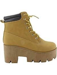 f3b219a77f2 Amazon.es  botines color camel - Cordones   Zapatos  Zapatos y ...
