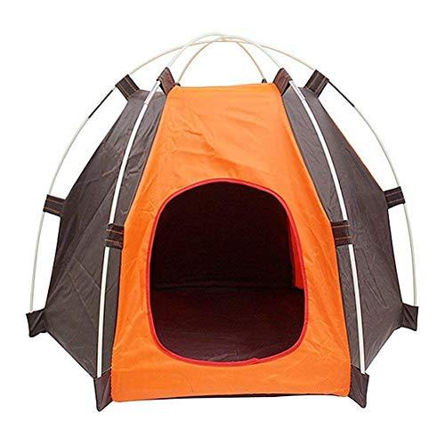 alpscale tragbares faltbares Campingzelt für Hunde und Katzen, Regenschutz, waschbar, für drinnen und draußen Orange