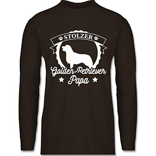 Shirtracer Hunde - Stolzer Golden Retriever Papa - Herren Langarmshirt Braun