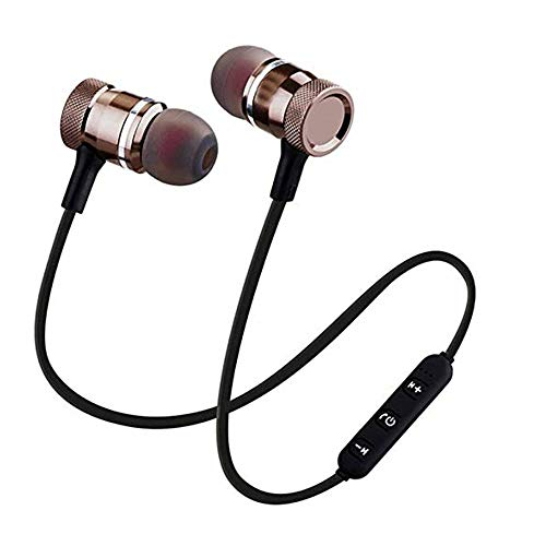 Limeswood Magnet Wireless Bluetooth in-Ear Headset with Mic for Handfree Calling Function Suitable with All Apple & Android Devices