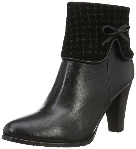 Andrea Conti 0380517, Bottes courtes avec doublure chaude femme Noir - Schwarz (schwarz 002)
