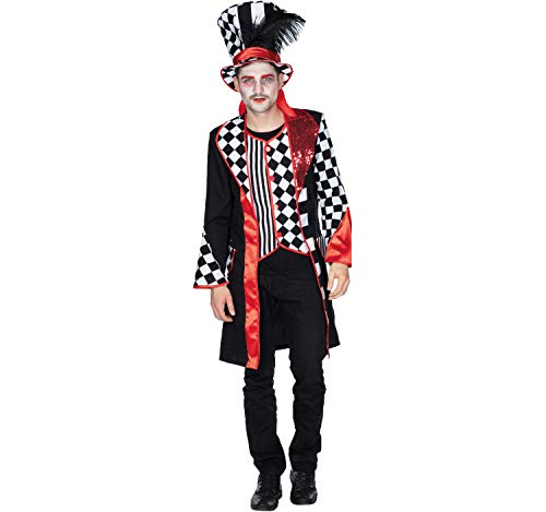 Kostüm Für Herren Pierrot - Herren Kostüm Pierrot Harlekin Frack Mantel Pedrolino schwarz weiß Fasching (50)