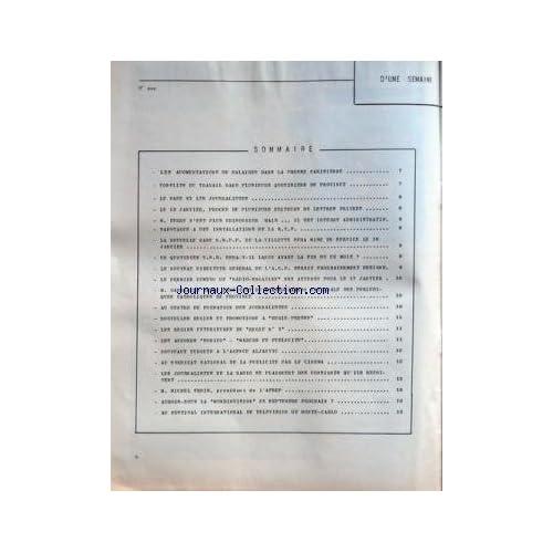 MIROIR DE L'INFORMATION DE LA PUBLICITE ET DES RELATIONS PUBLIQUES (LE) [No 213] du 12/01/1962