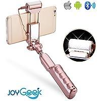 joygeek Selfie Stick Bluetooth monopiede con la luce, specchio e