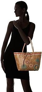 Desigual - Bols_siara Capri Not Reversible, Shoppers y bolsos de hombro Mujer, Marrón (Beige Safari), 28x13x30 cm (B x H T) de Desigual