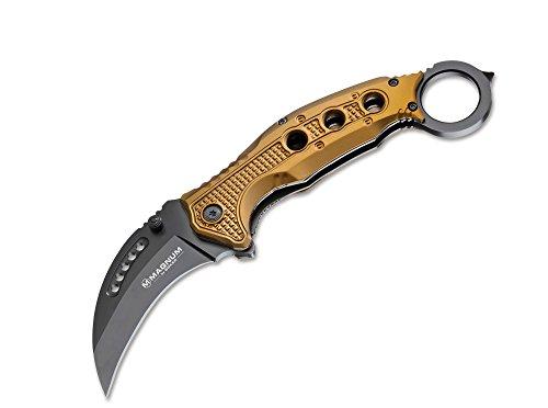 Böker Magnum Black Scorpion Taschenmesser Beige, Klingenlänge: 7,6 cm, 01MB713 -