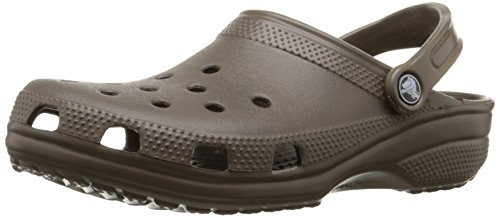 Crocs Adult Classic Clogs, Brown (Chocolate), 10 UK Women / 9 UK Men