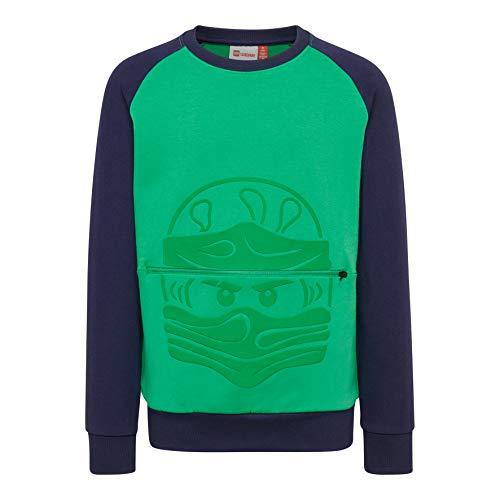 Lego Wear Jungen LWSIAM 651-SWEATSHIRT Sweatshirt, Grün (Green 866), (Herstellergröße: 110)