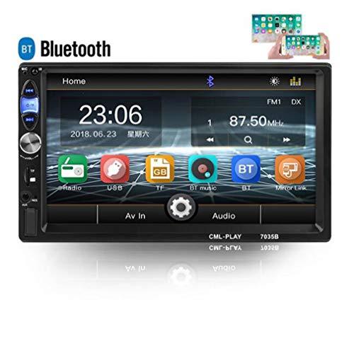 Huashao 7-Zoll-Doppelspindel-Auto-MP5-Player, Bluetooth HD FM-Radio 7035B, Handy-Verbindungsdisplay,B (Player Portable 7 Dvd Rca)