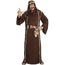 Widmann 44041 - jeque traje adulto árabe, túnica, capa sin mangas, cinturón y turbante, tamaño S