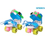 Famous Quality Roller Skates for Kids Age Group 4-12 Years Adjustable Inline Skating Shoes with School Sport (Multi Color)