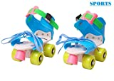 #2: Famous Quality Roller Skates for Kids Age Group 4-12 Years Adjustable Inline Skating Shoes with School Sport (Multi Color)