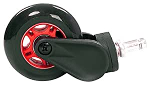AK Racing Rollerblade Roulettes, plastique, Noir/rouge