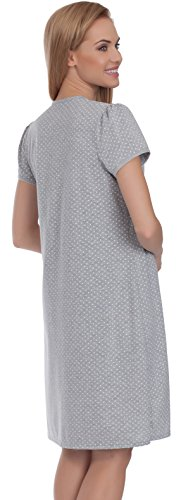 Italian Fashion IF Damen Umstandskleidung Stillnachthemd Joy 0114 Melange
