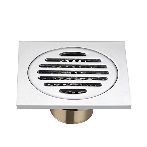 Gebläse-adapter-kabel (Badezimmer Dusche Bodenablauf 4-Zoll Full Copper quadratische Dusche Abfluss Sieb mit abnehmbarem Bezug, chrom-Finish a)