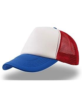RAPPER BIANCO-ROSSO-ROYAL RAP HIP-HOP TRUCKER CAP TRAND CAPPELLO CHAPEAU CAPS