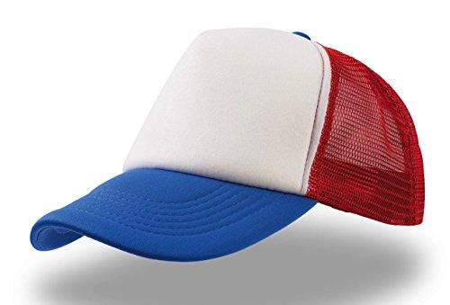 rapper-bianco-rosso-royal-rap-hip-hop-trucker-cap-trand-cappello-chapeau-caps