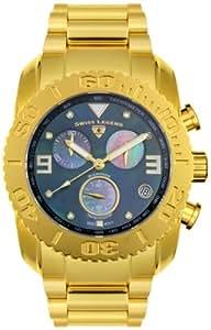 Swiss Legend - SL-20127-YG-11 - Montre Homme - Quartz - Chronographe - Bracelet Acier Inoxydable Doré