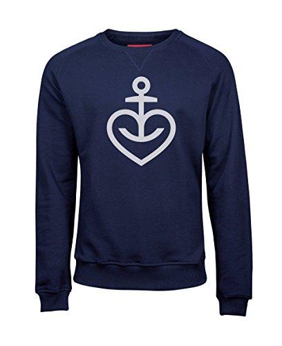 ASTRA Herren Sweatshirt Herzanker, Größe M, Herren-Pullover in Navy, Bier zum Anziehen, Langarmshirt aus St. Pauli, Geschenk-Idee für Männer (3XL) -