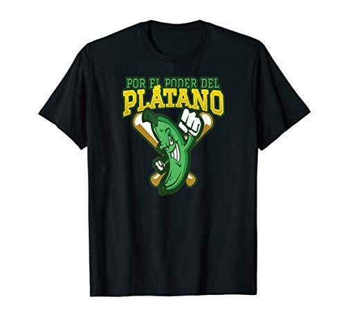 Por el Poder del Platano Dominikanische Republik Spanische  T-Shirt