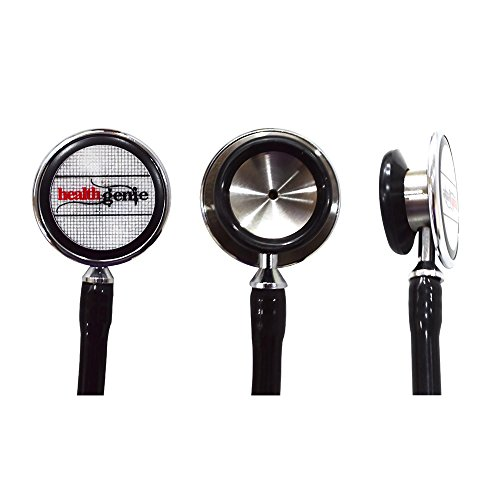 Healthgenie DHG-301B Doctors Dual Stainless Steel Stethoscope (Black)