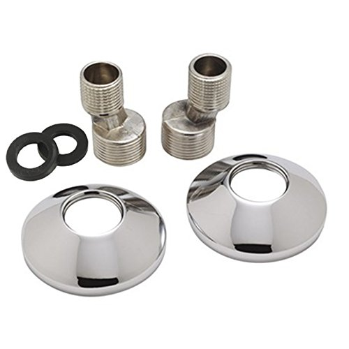 ENKI Raccords excentrés et rosaces adaptateurs pour robinets 3/4' vers 1/2'