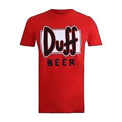 Idea Regalo - Simpsons Duff Beer T-Shirt, Rosso Red, M Uomo