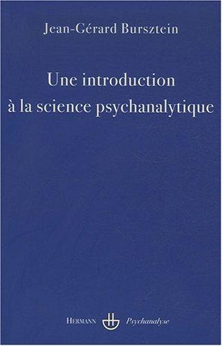 Une introduction à la science psychanalytique