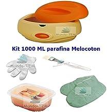Mundo-TEM® Parafina fundidor - calentador - bañera 3 litros Kit Basico profesional Hidratación