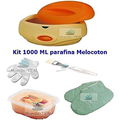 Parafina fundidor - calentador - bañera 3 litros . Kit completo profesional . Hidratación para manos y