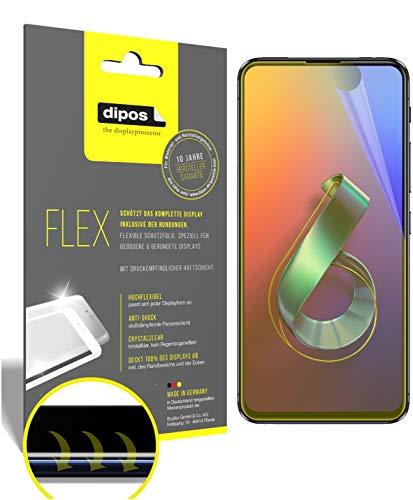 dipos I 3X Schutzfolie 100% passend für Asus Zenfone 6 (ZS630KL) Folie I 3D Full Cover Bildschirmschutzfolie