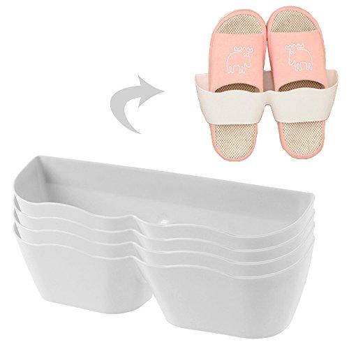 Vankra 4Wohnzimmer Badezimmer Wand montiert Schuhregal, vertikal Separate Komfortable Schuh verstauen weiß
