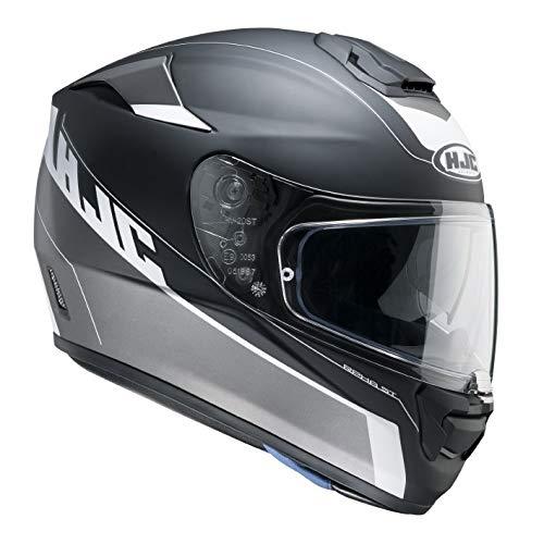 Hjc R-pha St Twocut Mc-5sf Motorradhelm , Farbe schwarz-grau, Größe L (59/60)