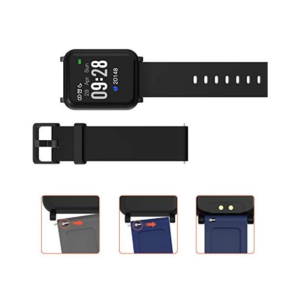 Fitpolo Pulsera de Actividad Inteligente Impermeable IP67,Pulsómetro Mujer Hombre, Monitor de Actividad Deportiva, Reloj Fitness, Podómetro,Contador de Calorias,Compatible con iPhone Android Samsung … 5