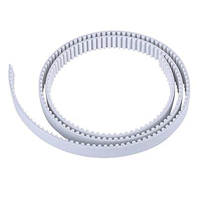 1/3/10 Meter HTD Open Timing Belt White Polyurethane Belt for 3D Printer CNC Engraving Mechines 15/30mm Width (1M 15mm)