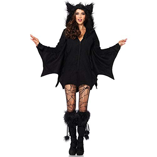 WYY-MY Halloween Weibliche Batman Kostüm Cosplay Maskerade Vampir Bühnenkostüm,Schwarz,XXL