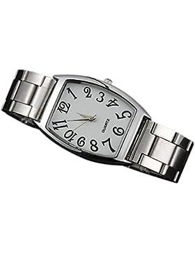 Sanwood Damen-Rechteck Legierung Band Armbanduhr