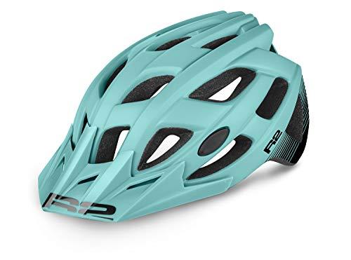 R&R R2 Fahrradhelm Rock | Radhelm | MTB-Helm | E-Bike Helm| City-Helm für Damen und Herren (Mint, M (56-58cm))