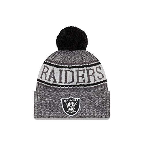 New Era NFL Oakland Raiders 2018 Sideline Graphite Sport Knit acaee581895b