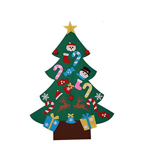 HermosaUKnight Fühlte Tuch DIY Weihnachtsbaum Fenster dekor Kinder Spielzeug Weihnachtsbaum Handmade Puzzle (Hand Made Puzzles)