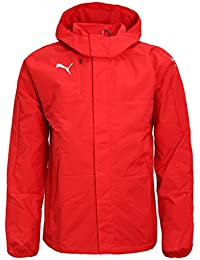 b8f8f6383 Puma Mens Rain Jacket Veloce Windbreaker Hooded Raincoat Jacket Sports Top  Red M L XL XXL New