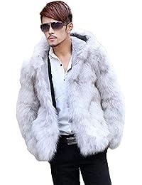best sneakers 741ad 4ea2c Amazon.it: pelliccia bianca - Bianco / Uomo: Abbigliamento