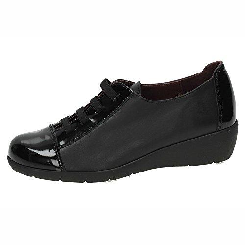 Made In Spain Chaussures de Ville à Lacets Pour Femme Noir