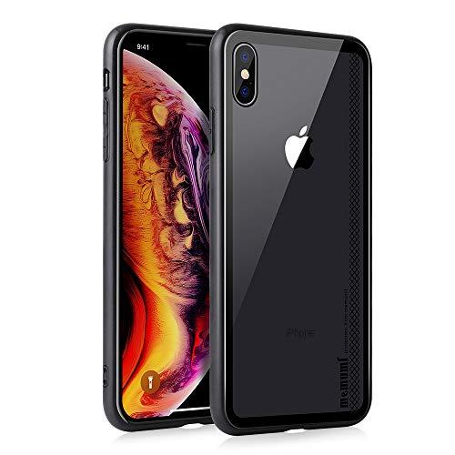 Hülle Transparent für iPhone XS Plus, Dünne Schutzhülle Case Crystal Clear Durchsichtige Rückschale mit TPU Bumper, Stoßfeste Handyhülle für Apple iPhone XS Max 6.5