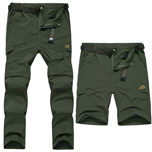 WYX Herrenhosen, Quick Dry Herren UV-Schutz Zip Off Convertible Walking-Wanderhose Für Das Bergsteigen,1,L - Cargo Convertible Shorts