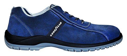 GOODYEAR G138/3052C–Scarpe in pelle crosta) colore: blu, blu, G138/3052C