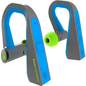 M-Edge International TrueWireless Headphones, Slate/Cyan (HP-TW-P-SC)