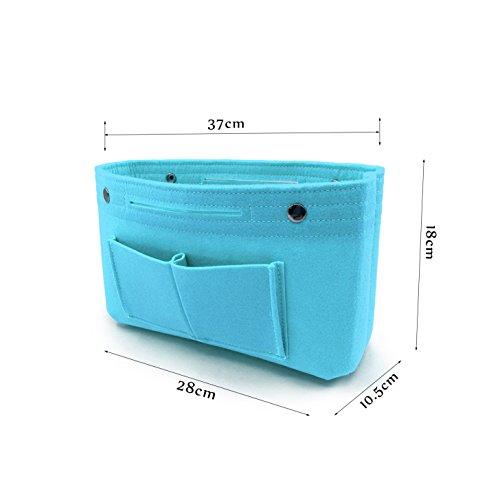 Donne Borsa Organizer Pouch Bag Cosmetico Organizzatore Inserisci Viaggi Cosmetic Tasca Blu chiaro